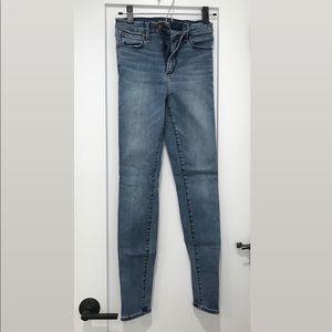 Abercrombie & Fitch medium wash skinny jeans.